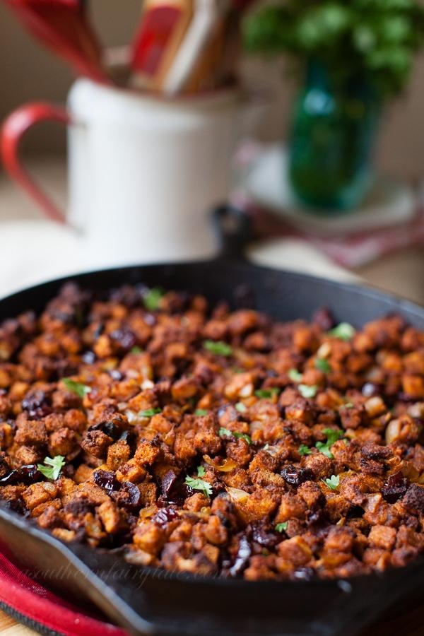 Chorizo and Roasted Poblano Thanksgiving Dressing Recipe