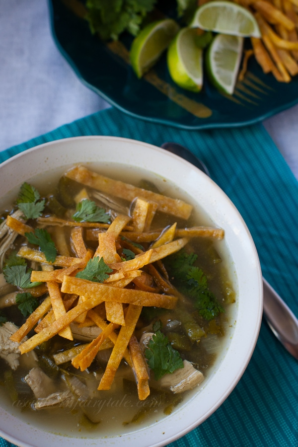 Skinny Chicken Tortilla Soup Recipe
