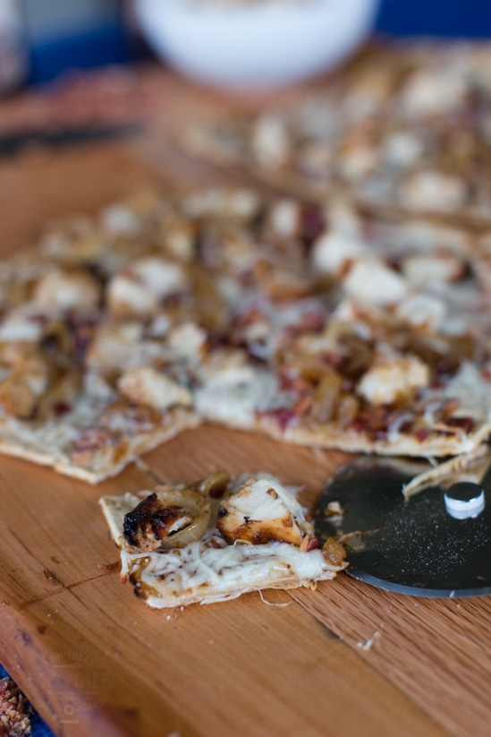 Barbecue Chicken with Caramelized Onions and Bacon Grilled Pizza Recipe