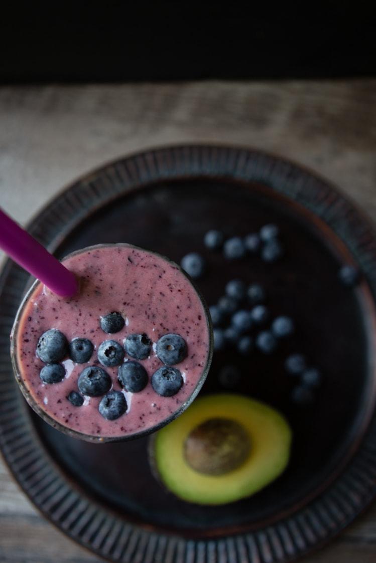 Avocado Blueberry Pear Smoothie