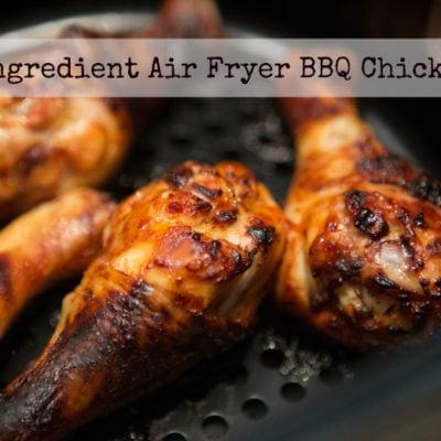 5 Ingredient Air Fryer BBQ Chicken {Video}